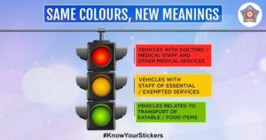 Know the Colour-coded stickers required on vehicles in use during lockdown in Mumbai, Maharashtra.